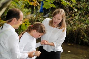 Taufe in der Schwabach